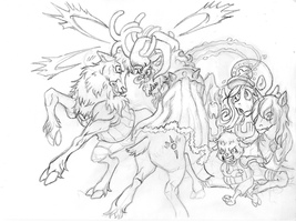 Nakama is Magic: WIP Chopper vs Grogar by Irie-mangastudios