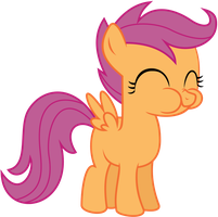 Scootaloo munching on an apple by FuzzyGauntlets