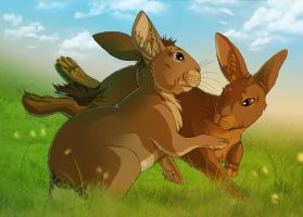Watership Down - Bigwig and Hawkbit playing by fiszike
