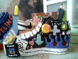 Ceramic Personality Shoe by kimster811