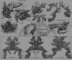 Dominance war model sheets by kerko