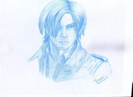 Leon Kennedy sketch by Reenave
