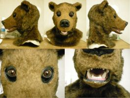 Grizzly Bear Mask by xiamara13