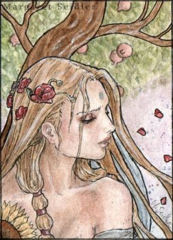Ete. ACEO . The season Nymphs by MargaretSeidler