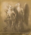 Commission - Male and Female Nahydrans by suthnmeh