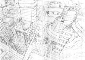 Normal City-Early Sketch by Loone-Wolf