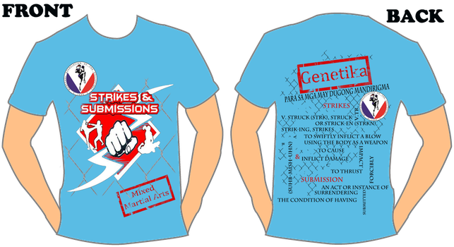 Strikes and Submissions Team Official 2012 Tshirt by Owen0o0