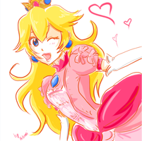 Princess Peach 2 by Honoka