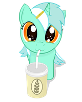 My little Lyra and big shake by negasun
