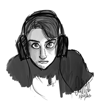 quick self portrait by Wolf-Shadow77