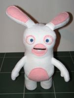 3D Rayman Raving Rabbid Plush by pinktoque
