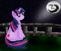 Twilight Sparkle and the Mare in the Moon by CalebP1716