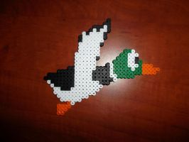 Perler Bead Duck Hunt Duck by EP-380