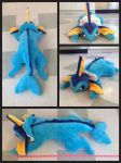 Vaporeon Plush 2 angles by aliapples