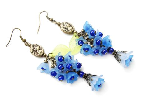 [FOR SALE] Sky blue floral earrings by Benia1991