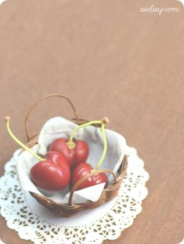 Miniature Cherries - One Third Scale by Aiclay