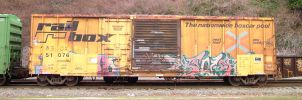 Train yard 7 - yellow box car by JensStockCollection
