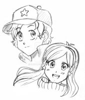 Gravity Falls Sketch by Chiok