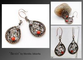 Bevin- wire wrapped earrings by mea00