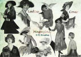 Ladies cover magazines PS Brushes by libidules