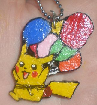 Flying Pikachu Necklace by redroseelcamino