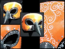 Altamira Oriole Masquerade Leather Mask by Jedi-With-Wings