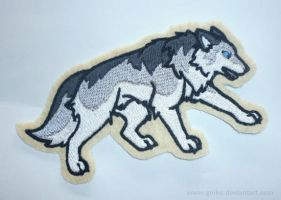 Patch commission: blue-eyed wolf by goiku