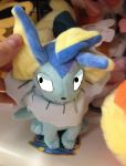 angry Vaporeon plush toy by sonicfan40