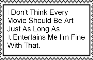I Don't Think Every Movie Should Be Art Stamp by Normanjokerwise