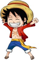 Luffy One Piece - CHIBI by Timagirl