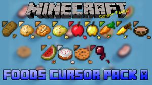 Minecraft Foods Cursor Pack A by dakotaatokad