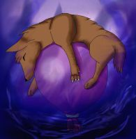 Dreaming Wolf Coloured by LunaticFlowerxX