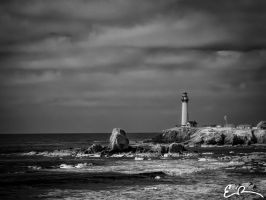 Pigeon Point Lighthouse in Infrared by eprowe