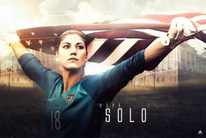 Hope Solo (US Women's National Team) by AlbertGFX