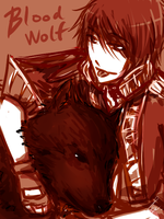 Doodle : Blood Wolf 18022011 by Michron