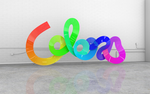 """Colors"" 3d typography by elliottdj"