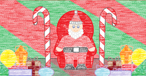 Santa in his chair by 15kimmy