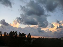 Sunset Clouds1 by Comacold-stock