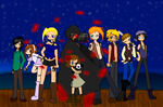 Jolly Rodger In Red Rose Sea by MadDucky76105