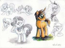 Pony sketches by Adlynh