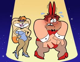 2 Sexy Bunnies by Cookie-Lovey
