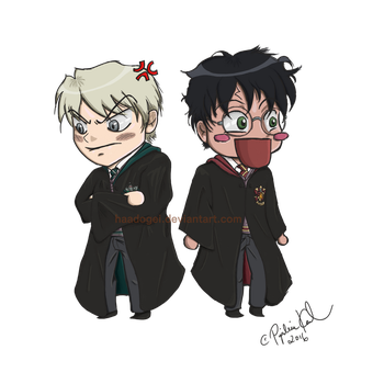 Chibi Drarry by Haadogei