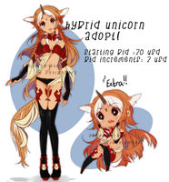 Adoptable: Hybrid unicorn (ended) by Steamed-Bun