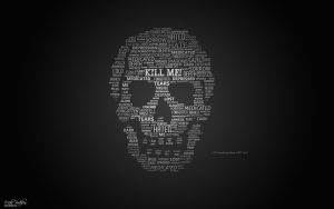 Skull Of Words - Free PSD by 5p34k