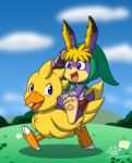 Late Easter: Cornelius riding on Chocobo by Coshi-Dragonite