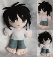 Commisson, Mini Plushie Ryuzaki by ThePlushieLady