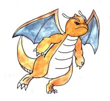 Dragonite by Hunchdebunch