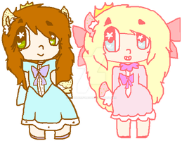 Kawaii Deer Sisters NOW MY OC'S by strawberrymeopin