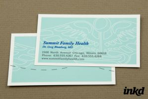 Blue Family Health Business by inkddesign