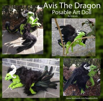 Avis The Dragon Posable Art Doll by Eviecats